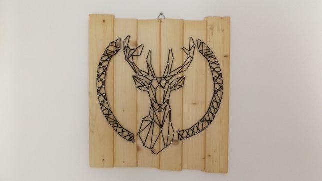 Obraz jeleń - String art DIY