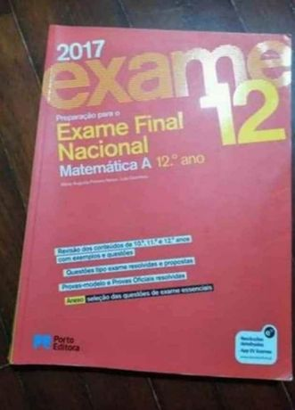 Preparação para o exame nacional de matemática A 12 ano