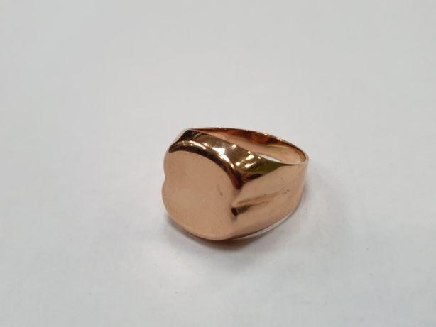 Klasyczny złoty sygnet męski/ miejsce na grawer/ 585/ 7.5g/ R23