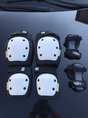 Ochraniacze kolan, łokci i nadgarstków.