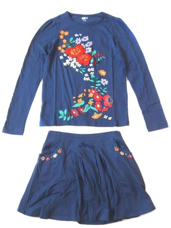 Реглан и юбка для девочек Crazy8 размер XL 14 на 152-157 костюм летний