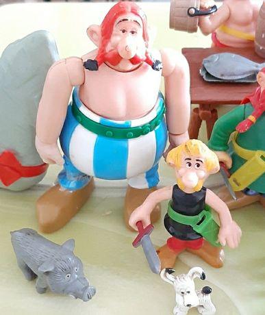 Bonecos Astérix e Obélix da Toy cloud, anos 80
