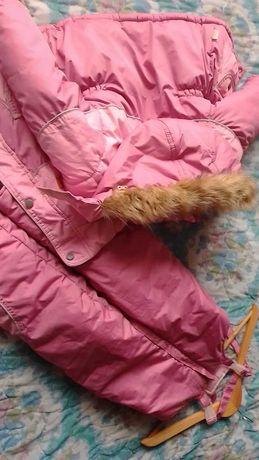 Зимний комбез-куртка на девочку 2-3года.