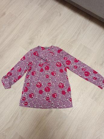 Красивая рубашка блузка для девочки р.152