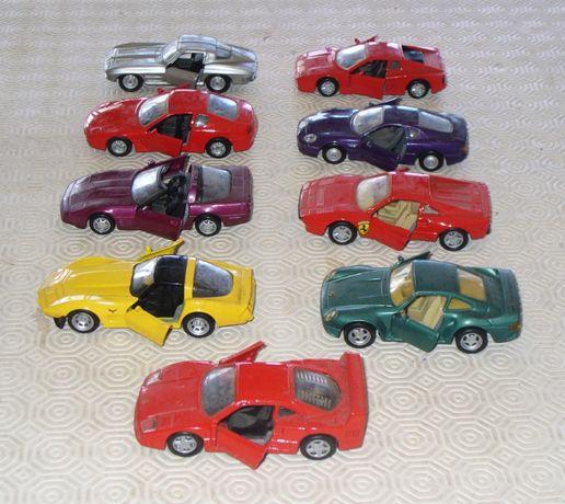 9 carros em metal esc 1/43