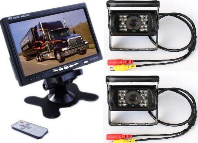 Zestaw 2x Kamera cofania + MONITOR 7'' kombajn przyczepa