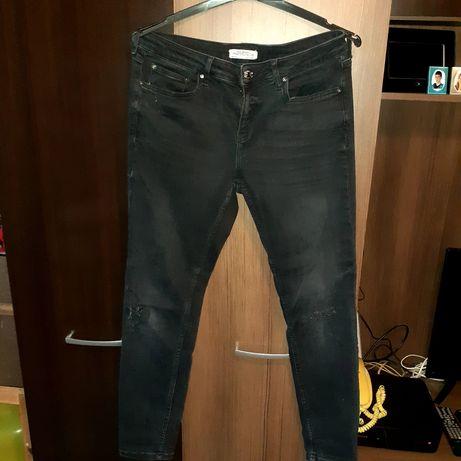 Czarne jeans rozm L Zamienie