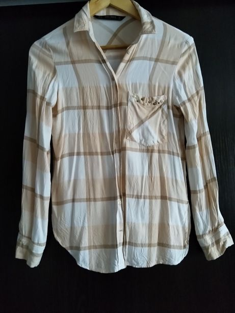 Koszula Zara r. XS perełki, stan idealny