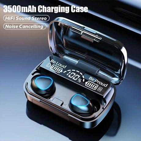 Tws bluetooth 5.1 fones de ouvido 3500mah caixa carregamento sem fio f