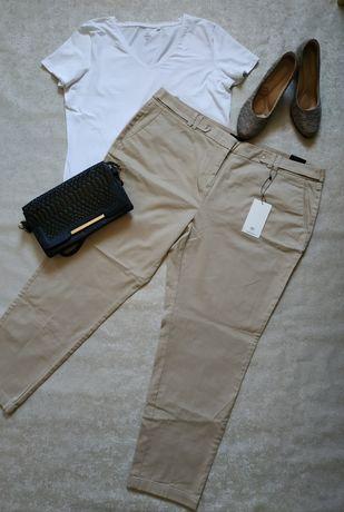 Бежевые брюки новые большой размер 50