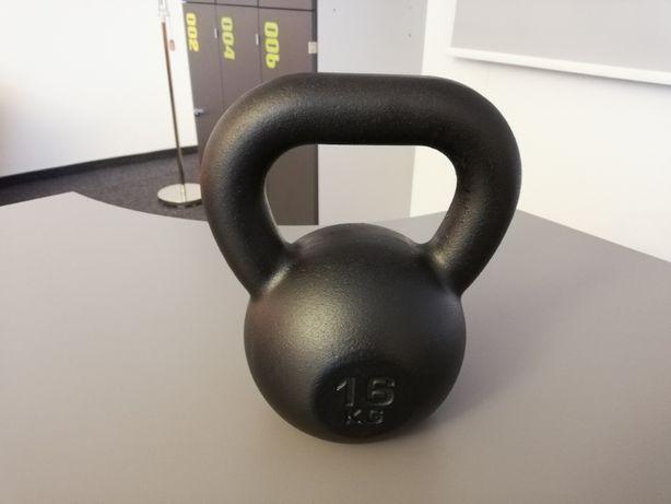 16kg Pro Crossfit Fitness Kettlebell Kettle Kettel Kula Hantel żeliwny