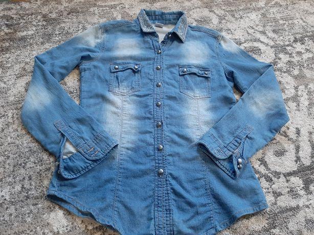 Джинсовая рубашка женская размер ХL наш 46-48 джинсова сорочка