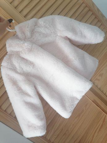 Futerko kurtka chrzest dziewczynka białe 80 wypada większe