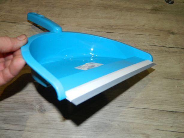 Совок для мусора пластиковый с прорезиненным краем