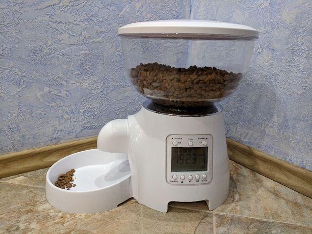 Умная автоматическая кормушка для кошек собак сухой корм автокормушка