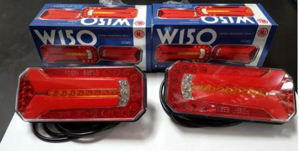 Lampa lampy tył led ledowe dioda diodowe przyczepka WAŚ w150