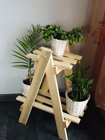 Kwietnik drewniany piętrowy, regał, drabinka do ogrodu