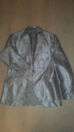Srebrny garnitur męski wyjściowy angielski