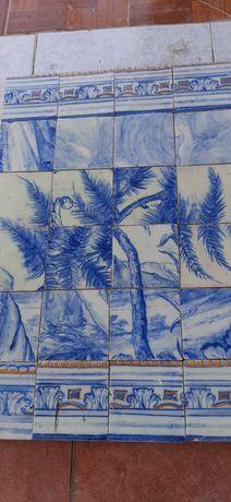 Antigos azulejos Século XVII.