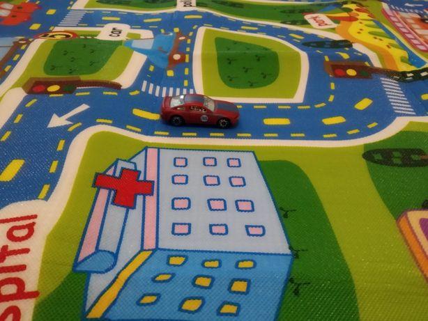 Новый детский коврик для машинок термоковрик ковёр в детскую