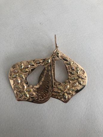 Złote kolczyki sułtańskie 18 gr 585