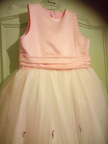 Sukienka tiulowa, na 8-10 lat