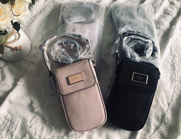 Guess mini torebeczki na telefon nowe oryginalne czarny + pudrowy roz