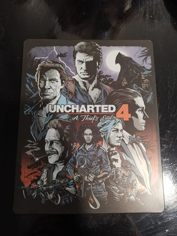 uncharted 4 steelbook edition + stickers
