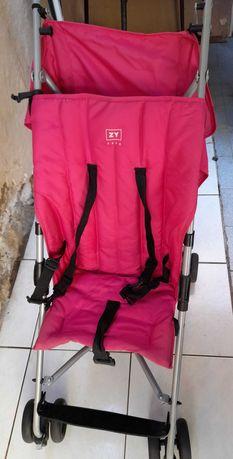 Carrinho de passeio rosa