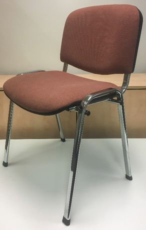 Krzesło biurowe tapicerowane ISO beżowy/chrom