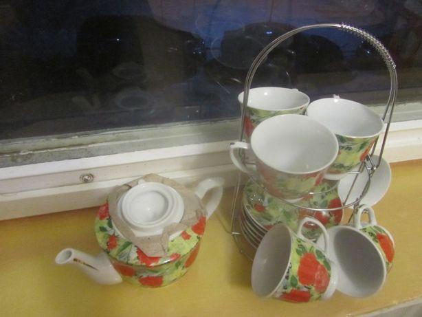 Чайный сервиз с чайником_6 персон