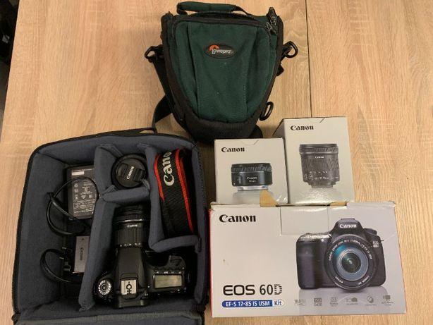 Aparat Fotograficzny Canon 60 D + 2 obiektywy + cały komplet