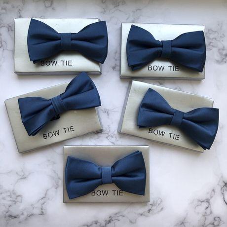 5 шт набор атласные синие бабочки мужские для свадьбы свидетелей