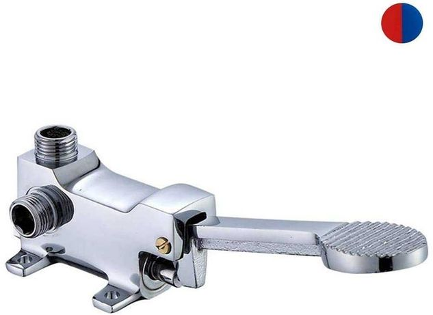 Torneira de pedal água quente e fria misturador 1 ou 2 águas