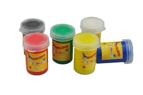 Пальчиковые краски безглютеновые, непроливаемые 6 цветов набор