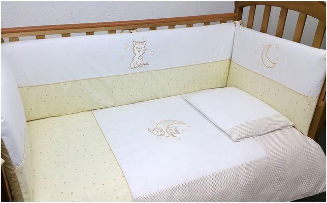 Постельный комплект Верес Little Cat beige 6 эл Защина на кроватку