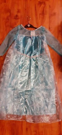 Elza Z krainy lodu Disneya strój karnawałowy 122-128 cm
