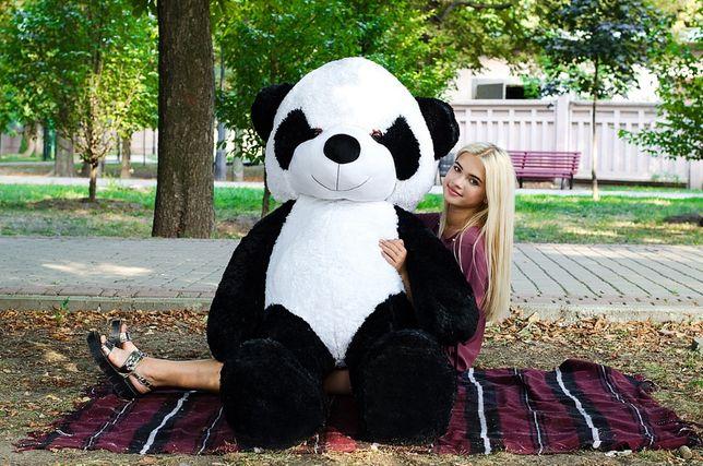 Плюшевая панда 200 см! Коричневая,серая и черная панда!