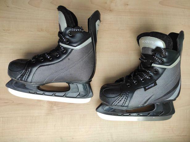 Детские коньки хоккейные Skaterix Power Max, размер 34.