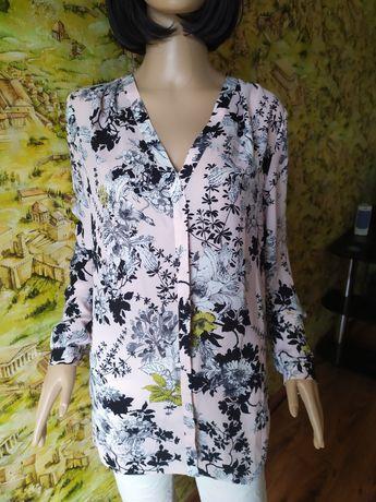 Блузка в цветы размер 48