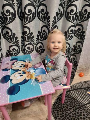 """Детский столик и стул """"Минни Маус"""" стол-парта стульчик (варианты)"""