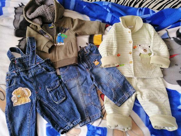 Одежда для мальчика: джинсы, полукомбинезон, курточка, тёплый костюм