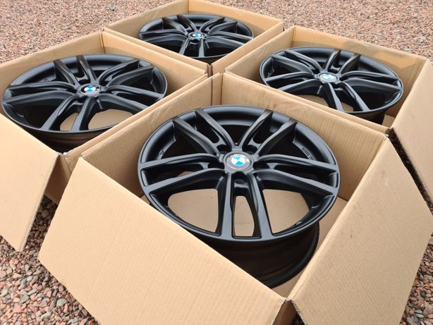 Alufelgi 17 BMW 5x112 Czarne X1 F48 X2 F39 1 F40 2 F45 F46 Audi VW 48#