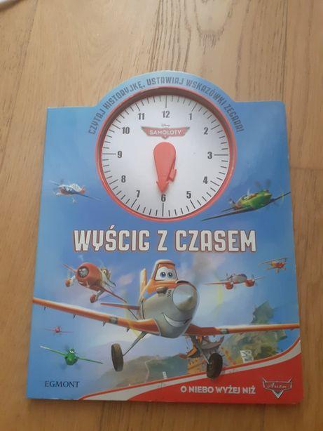 Samoloty książka nauka zegara