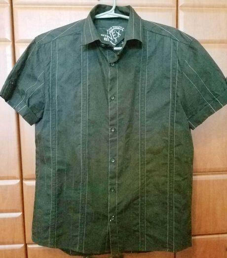 Рубашка мужская NEXT чёрная р. 46/48 (M) 100% коттон