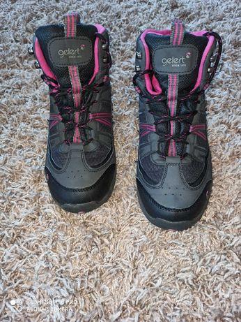 Buty gelert 41-42 trekingowe damskie na zimę w góry, jak nowe, wodoodo