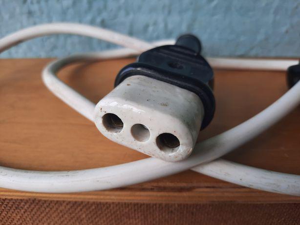Ви5тажный электрический советский кабель с вилкой 220  СССР