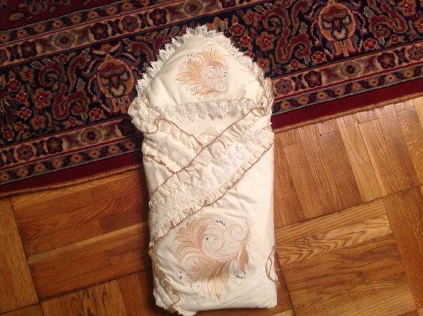Конверт, одеяло в роддом очень красивый