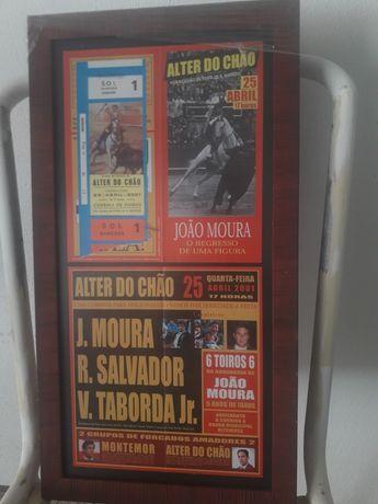 Bilhetes de Touradas com cartaz