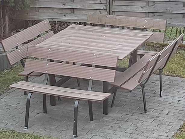 Stół i 4 ławki do ogrodu na działkę meble ogrodowe cena do negocjacji